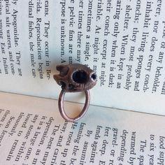 Red-Eared Slider Turtle Skull Ring Size 7.5