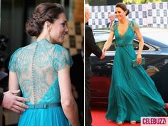 kate middleton -- not sure this dress can get any more amazing!!