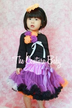 Halloween Bouquet Pettiskirt Set from The Couture Baby