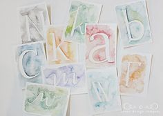 watercolor-letters - Libby DIY