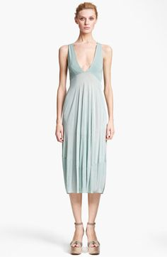 Donna Karan Collection Jersey and Crepe Dress
