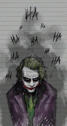 Art inspired by The Joker played by Heath Ledger in A Dark Knight Dc Comics, Batman Comics, Le Joker Batman, Der Joker, Joker Und Harley Quinn, Batman Art, Batman Stuff, Gotham Batman, Nightwing