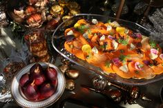 Description of . A luxurious display of a rustic dinner party themed around the Partridge in a Pear Tree by Paula LeDuc Fine Catering at the...