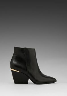 BOUTIQUE 9 Isoke Bootie in Black  #wedge #boots #fallwadrobe @REVOLVEclothing