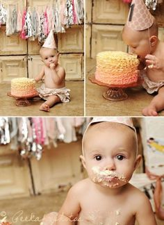 1st birthday cake smash photos.