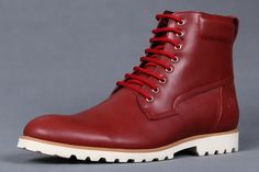 Timberland Men Earthkeepers Britton Leather Boots Red