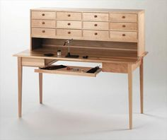 Maine made fly tying desk.
