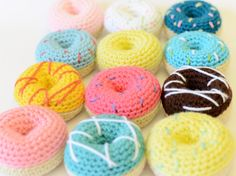 Crochet Stacking Toys Crochet Play Food by TheSimplyHooked