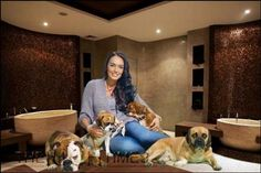 The daughter of Formula one boss Bernie Ecclestone , Tamara Ecclestone is a model and television personality, a great animal lover with five dogs,. Pet Spa, Dog Store, Dogs, Animals, Image, Google, Animales, Animaux, Pet Dogs