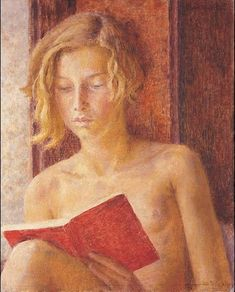 """the-paintrist: """" """" Dod Procter - Dinah Reading. """" """" Oil on canvas. Dod Procter was born Doris Shaw and probably chose her androgynous epithet to thwart convention. Reading Art, Woman Reading, Elizabeth Forbes, People Reading, Books To Read For Women, English Artists, Figure Painting, Woman Painting, Painting Art"""