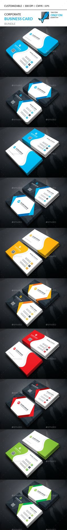 Corporate Business Card Template Vector EPS, AI Illustrator Bundle. Download here: https://graphicriver.net/item/corporate-business-card-bundle/17368204?ref=ksioks
