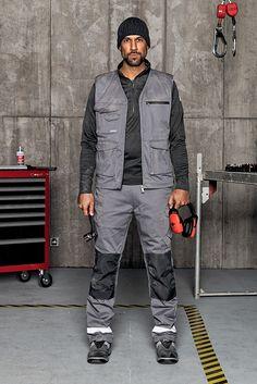 """""""Mechaniker Outfit Stretch X"""": Warmes Arbeitsoutfit für den Winter aus. Die flexible & gefütterte Winter Bundhose kombiniert mit einem weichen Fleecetroyer hält auch bei niedrigen Temperaturen warm."""