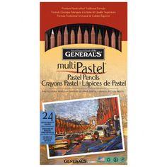 General's® Multi-Pastel® Pencil Set, 24 Count