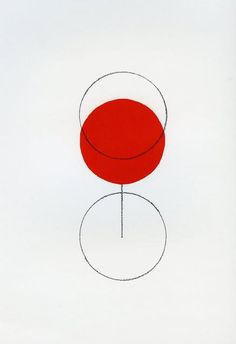Alan Fletcher (he loves simple and colourful, especially his signature red circle) This is such a smart piece of design - simple but goes beyond one's imagination. [Uyen N.] 2 blank circles, one red circle, and a straight line, create the illusion of wha Illustration Design Graphique, Art Graphique, Illustration Art, Graphisches Design, Wine Design, Shape Design, Logo Design, Interior Design, Plakat Design