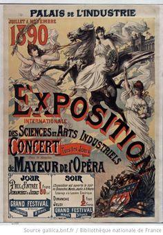 Palais de l'Industrie, juillet à novembre 1890, Exposition Internationale des Sciences et Arts industriels - Concert tous les jours sous la ...