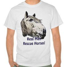 Rescue Horse Head Portrait for Horse-Lovers T Shirt, Hoodie Sweatshirt