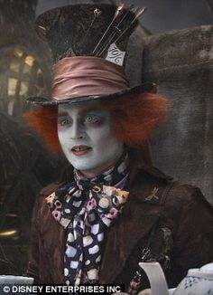 Depp played the Mad Hatter in Alice In Wonderland