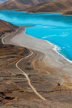 Yamdrok Lake, Tibet   http://bitsmag.com.br/viagem