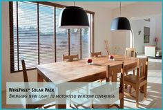 Somfy Systems WireFree Solar Pack: An easy-to-install photovoltaic panel adjusts motorized window shades. $220