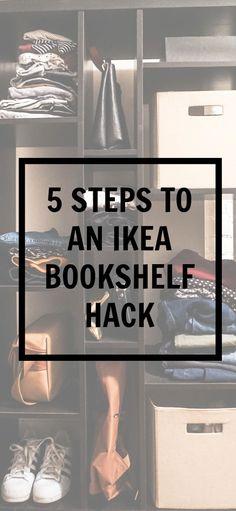 5 steps to an ikea bookshelf hack | Kayla's Five Things | ikea cube bookshelf | turning a bookshelf into a dresser | ikea diy | DIY decor