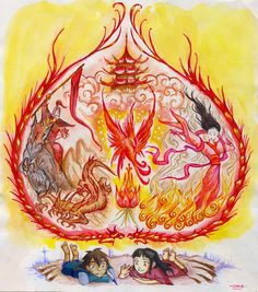 Stories of my People - Part 2 (a young Fire Nation girl shares her stories with a young Water Tribe boy)