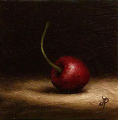 "Daily Paintworks - ""another cherry"" - Original Fine Art for Sale - © Jane Palmer"