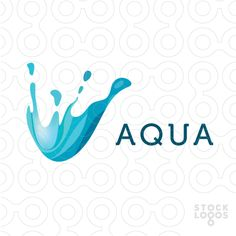 Aqua - water splash logo