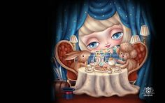Windows 7 Themes : Fairytale Dolls  - Candlelight Dinner, Fairytale Dolls  Wallpaper  2