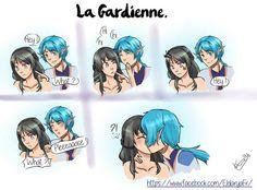 Eldarya, Ezarel, Gardienne, kiss, cute, elf