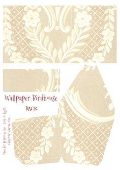 Vintage Wallpaper Birdhouse No 23
