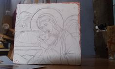 Sweet Holy Mother - nativity of Christ and its first drawing on wood