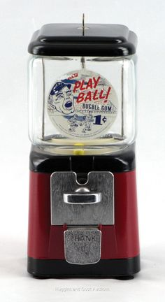 Bubble Gum Machine, Vending Machines, Gumball Machine, Coolers, Favorite Color, Auction, Retro, Beautiful, Collection