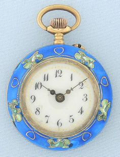 Vintage Watches Collection   Bogoff Antique Pocket Watches Art Nouveau  Enamel Watch and Pin Bogoff Antique Pocket Watch   6706 4d6881fdeb3