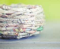 Make baskets from old newspapers