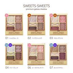 """hiro/JPCAパーソナルカラーアドバイザー on Instagram: """"#スウィーツスウィーツ @sweets_sweets.official  #プレミアムガトーシャドウ ¥1,200(税抜)  全6種を #パーソナルカラー 別に仕分け👏  #イエベ春 →SP🌸 #ブルベ夏 →SM🍉 #イエベ秋 →A🍁 #ブルベ冬 →W☃…"""" Palette, Eyeshadow, Make Up, Sweets, Seasons, Cosmetics, Spring, Frame, Color"""