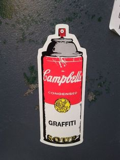 Fancy - Campbell's Soup Graffiti Spray Can, by Rene Gagnon  Nice- Andy Warhol Pop Art x's Graffiti