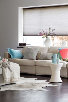 BLINDS discover the endless variety! Curtains Or Shades, Doors And Floors, Home And Living, Living Room, Window Styles, Scandinavian Style, Blinds, New Homes, Home And Garden