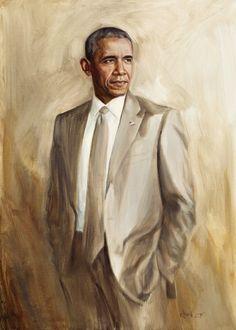 Barack Obama, oil on canvas 50x70cm