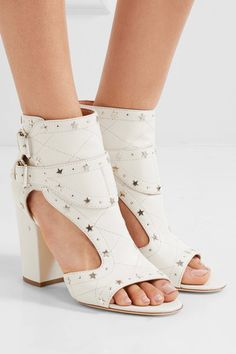 Laurence Dacade - Rush Studded Quilted Leather Sandals - Off-white - IT36.5