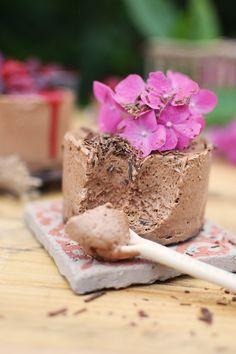 Geeiste Schoko Mousse mit Kirschen - Iced Chocolate Mousse with cherries (20)