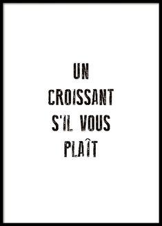 Un Croissant Plakat