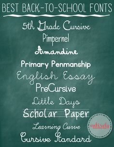 Entirely Eventful Day: Best Back-to-School Fonts  ~~ {10 Free fonts w/ easy download links}