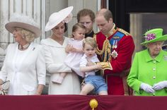 Princess Charlotte made her first official public appearance during celebrations marking her great-grandmother, the Queen's, 90th birthday on Saturday. | Princess Charlotte Made Her First Public Appearance During The Queen's...