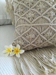Macrame Cushion Covers by Ocean Nomad shop on line www.oceannomadaustralia.com.au