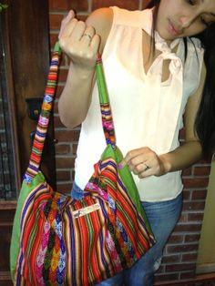 Green Aguayo Fabric Handmade Bag by LlamaMamaBags on Etsy, $40.00