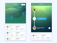 Money transfer app - by Mike Malewicz | #ui