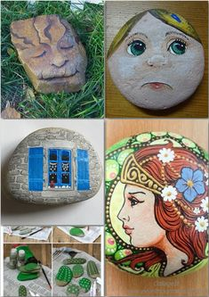 Easy paint rock for try at home (stone art & rock painting ideas) Painting Templates, Rock Painting Patterns, Rock Painting Ideas Easy, Stencil Painting, Painted Rocks Kids, Painted Stones, Rock And Pebbles, Easy Paintings, Painting Videos
