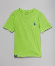 This Summer Lime V-Neck Tee - Toddler & Boys by U.S. Polo Assn. is perfect! #zulilyfinds