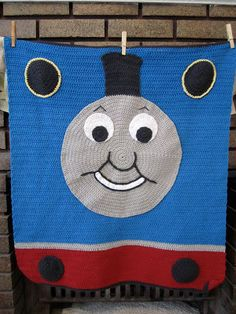 Little Bird With a French Fry: Crochet Thomas The Train Blanket