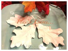 How to Make Plaster Fall Leaves From Fabric Leaves